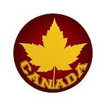 """Canada Souvenir Varsity 3.5"""" Button"""