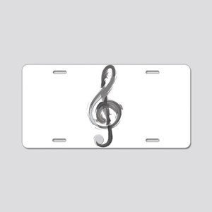 TREBLE CLEF Aluminum License Plate