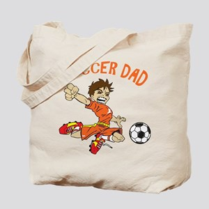 SOCCER DAD BRUNETTE ORANGE Tote Bag