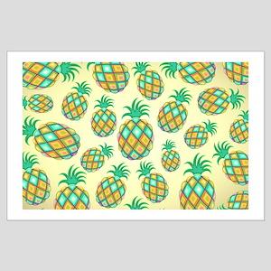 Pineapple Pastel Colors Pattern Poster Art