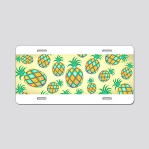 Pineapple Pastel Colors Pattern Aluminum License P