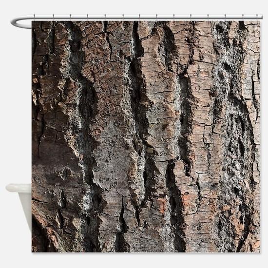 Old bark Shower Curtain