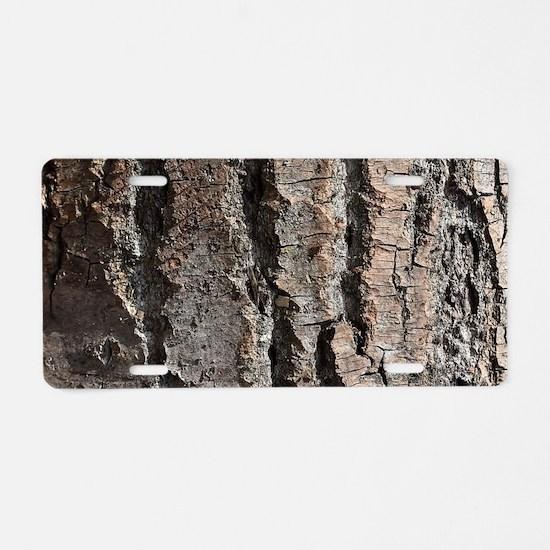 Old bark Aluminum License Plate