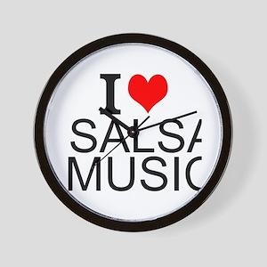 I Love Salsa Music Wall Clock