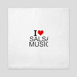 I Love Salsa Music Queen Duvet