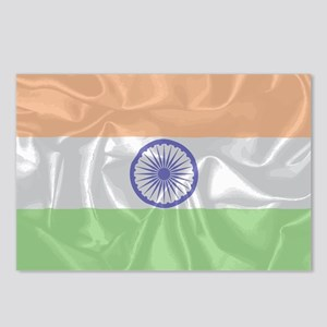 India Silk Flag Postcards (Package of 8)