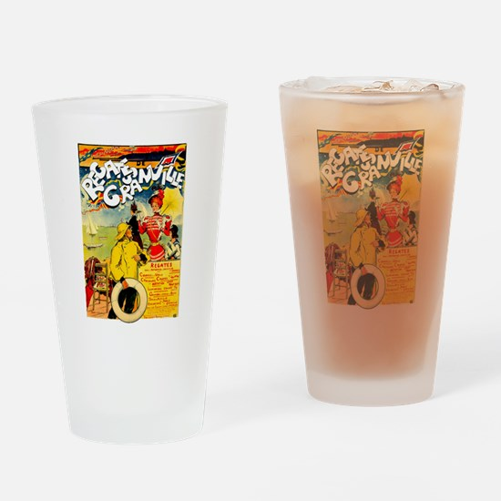 Cute Boat races Drinking Glass