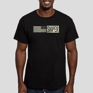 U.S. Military: Sniper Men's Fitted T-Shirt (dark)