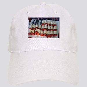 American flag made from bananas and berries Cap