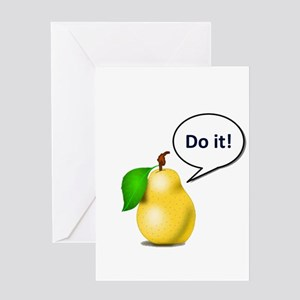 Pear Pressure Greeting Cards