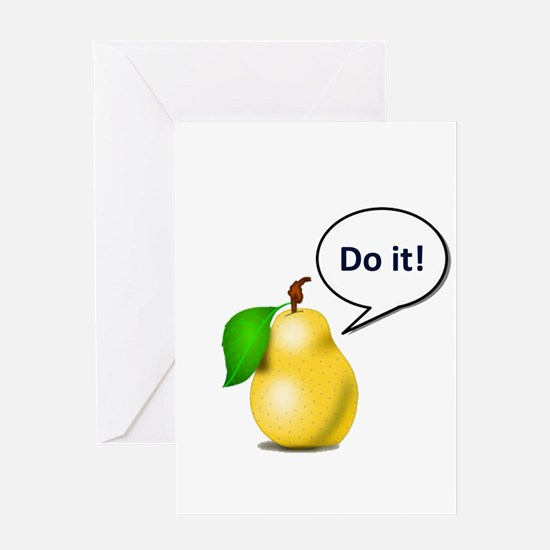 Pear Pressure Greeting Cards