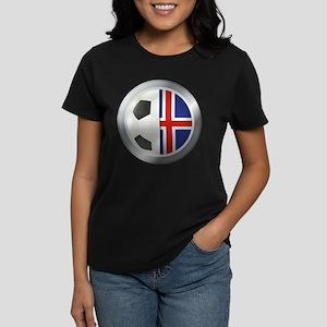 Iceland Soccer Women's Dark T-Shirt