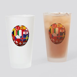 EU Soccer Drinking Glass