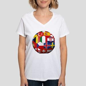 EU Soccer Women's V-Neck T-Shirt