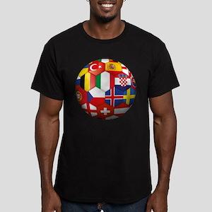 EU Soccer Men's Fitted T-Shirt (dark)