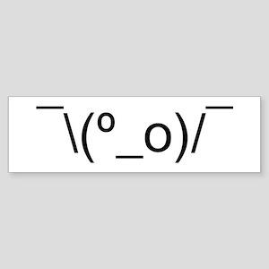 I Dunno LOL Emoticon Japanese Kaomoji Bumper Stick