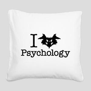 I Heart (Rorschach Inkblot) Psychology Square Canv