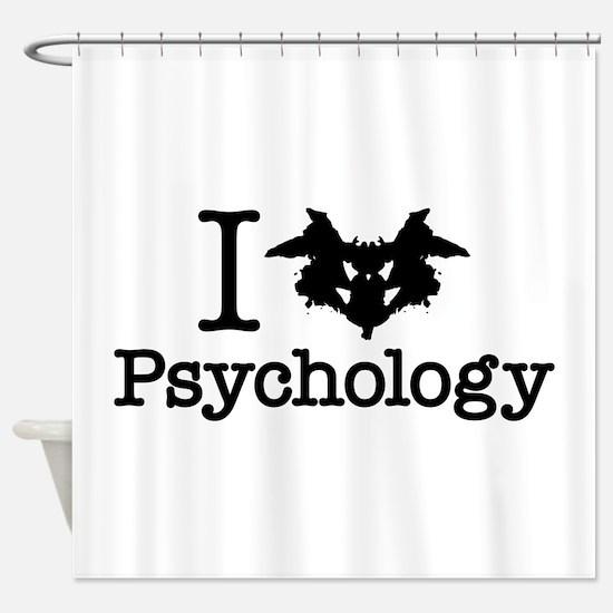 I Heart (Rorschach Inkblot) Psychology Shower Curt