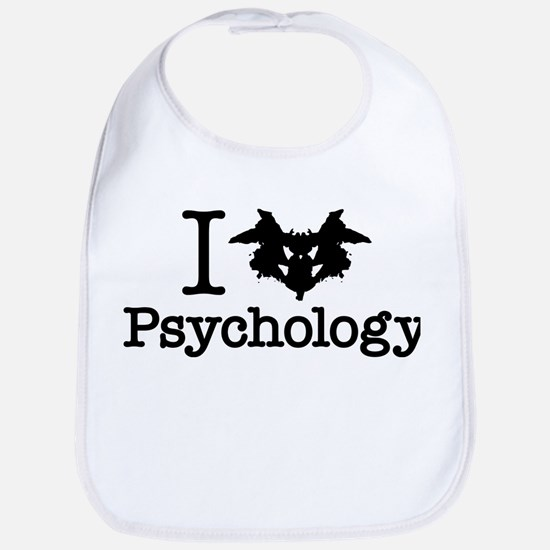 I Heart (Rorschach Inkblot) Psychology Bib
