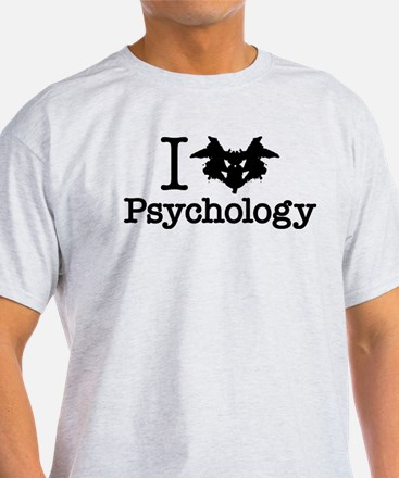 I Heart (Rorschach Inkblot) Psychology T-Shirt