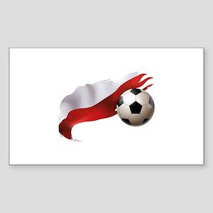 Poland Soccer Sticker (Rectangle)