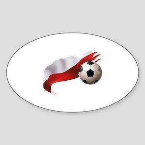Poland Soccer Sticker (Oval)