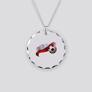 Poland Soccer Necklace Circle Charm