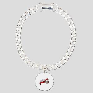 Poland Soccer Charm Bracelet, One Charm