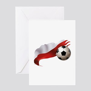 Poland Soccer Greeting Card
