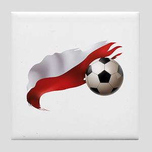 Poland Soccer Tile Coaster