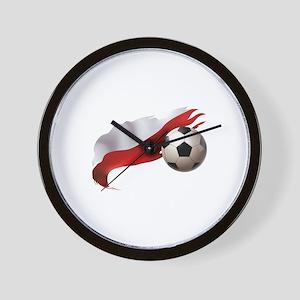 Poland Soccer Wall Clock