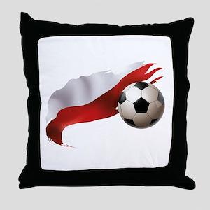 Poland Soccer Throw Pillow