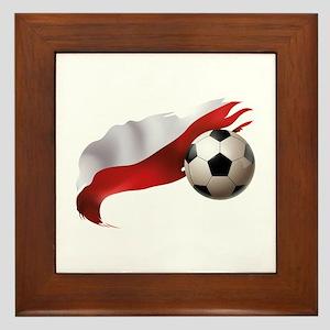 Poland Soccer Framed Tile