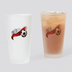 Poland Soccer Drinking Glass