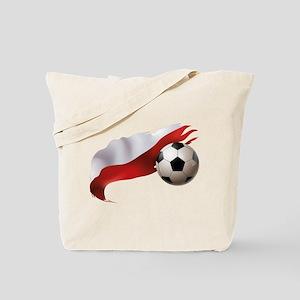 Poland Soccer Tote Bag