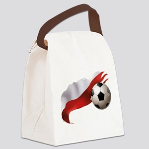 Poland Soccer Canvas Lunch Bag