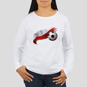Poland Soccer Women's Long Sleeve T-Shirt