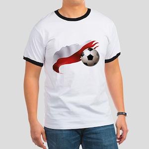 Poland Soccer Ringer T