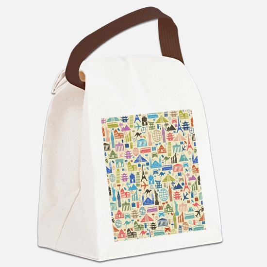 Funny Travel Canvas Lunch Bag