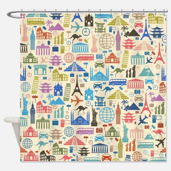 Cute Travel Shower Curtain