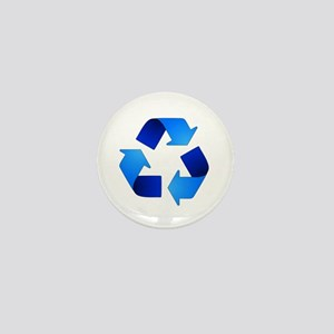Blue Recycling Symbol Mini Button