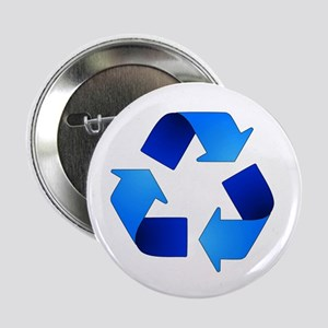 "Blue Recycling Symbol 2.25"" Button"