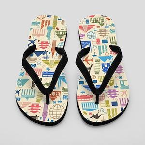 world Travel Flip Flops