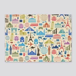 world Travel 5'x7'Area Rug