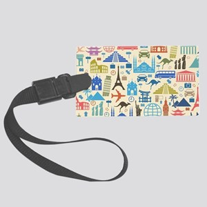 world Travel Large Luggage Tag