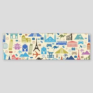 world Travel Bumper Sticker