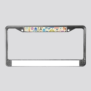 world Travel License Plate Frame