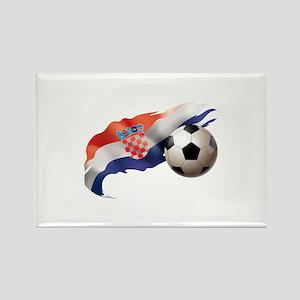 Croatia Soccer Rectangle Magnet