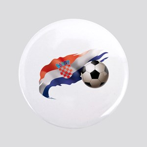 "Croatia Soccer 3.5"" Button"