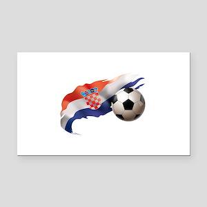 Croatia Soccer Rectangle Car Magnet